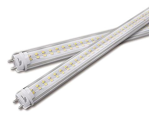 Qualitäts LED- Röhre Tube Leuchtstoffröhrenersatz T8(G13) 21W einfacher Austausch 120cm tageslicht- weiß (5.000K), Abstrahlwinkel: 120°, Linse: Milchglas, Fassung: T8/ G13, inkl. Starter, Lm: 2052Lm, TÜV- geprüft, CE/ RoHs, 4 Jahre