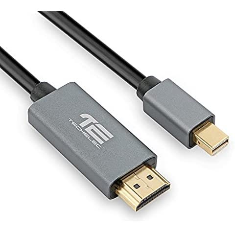Cable Mini DisplayPort DP a HDMI (1,8M, Compatible con Thunderbolt, 3D, 1080P) para Apple Mac, MacBook Pro, Air, Microsoft Surface Pro y