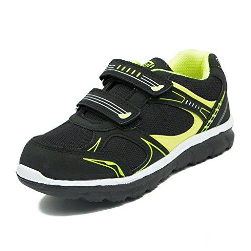 Asian-shoes-JUNIOR-13-Black-Parrot-Green-Mesh-kIDS-Shoes