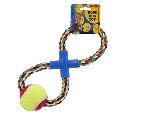 Artikelbild: Hundespielzeug Tennisbälle mit Seil Hundespielzeug Baumwoll Schleife