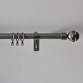 Acrimo Extendable Curtain Pole 120-210 cm (Chrome, Ball)