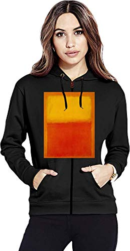 Top Paintings of All Time Mark Rothko - Orange and Yellow Painting Women Zipper Hoodie Stylish Fashion Fit Custom Apparel by Medium -