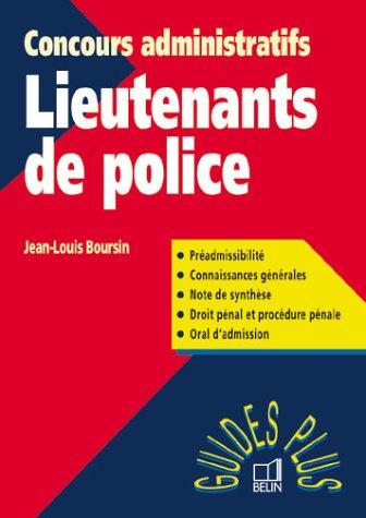 Guide des concours administratif pour les lieutenants de police