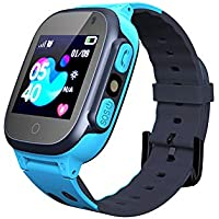 Smooce Kinder Smartwatch LBS Tracker,Touch LCD Kid Smart Watch mit Taschenlampen Anti-Lost Voice Chat für 3-12 Jahre alt…