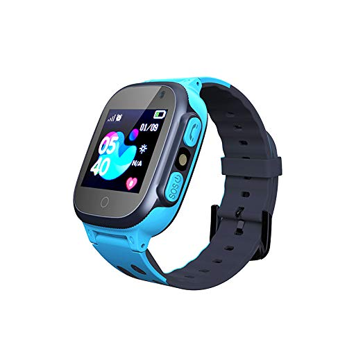 Smartwatch per Bambini, Jslai GPS/LBS Tracker Orologio Digitale Wrist Watch per 3-12 anni Ragazzi con SOS Calling Camera SIM Card Gioco Touch Screen Compatibile per iOS e Android (Q15 Blu)