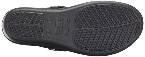 Crocs Sanrah Beveled Kreis Flip Keilsandale Navy/Graphite