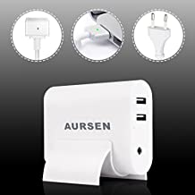 Aursen® 60W MagSafe 2Power Adapter, 60W MagSafe 2Cargador con forma de T (compatible con modelo A1435A1465/A1502/MD212/MD213/md662