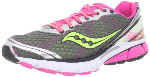 Saucony Women's Triumph 10 Running Shoe,Grey/Pink/Citron,5 M US