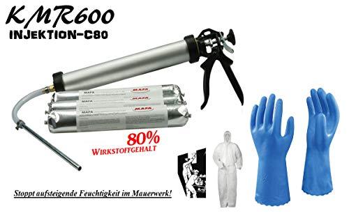 KMR600-INJEKTION-C80 - Injektionscreme gegen aufsteigende Feuchtigkeit im Mauerwerk (3xC80 Schlauch)