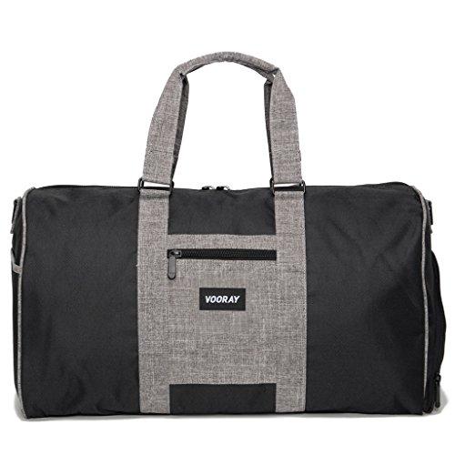 vooray-trepic-43l-weekender-duffel-bag-includes-drawstring-laundry-bag-noir-black-heather-gray