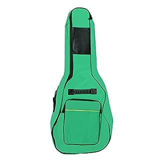 Accessotech voller Größe Akustik & Konzertgitarre gepolstert mit Tragetasche Tasche Halter grün