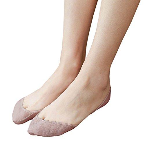 Yolev Füßlinge Baumwolle Ballerina Damen Socken (Beige)