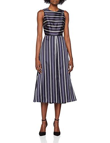 L.K. Bennett Damen Kleid Natalee, Mehrfarbig (Mul-Blue Multi 725), 34 (Herstellergröße: 6) (Multi Blue Kleid)