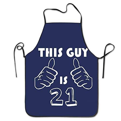 dhdhgdfj Schürzen Küchenschürze This Guy is 21 Funny 21st Birthday Aprons Personalized Kitchen Aprons Blue Apron 28 3