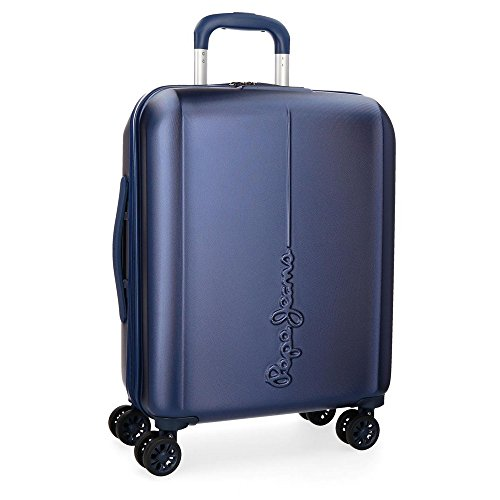 Pepe Jeans Cambridge Blue Rigid Cabin Trolley