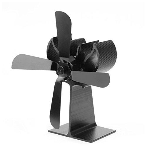 Ventilador con calefacción de estufa de leña, Goldenbridge Ventilador con chimenea potente...