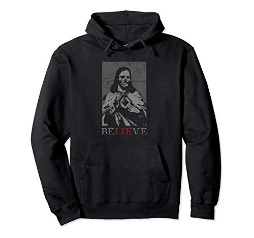 Occult Satan Jesus Lie Antichrist Atheist Hell Devil Gothic Pullover Hoodie