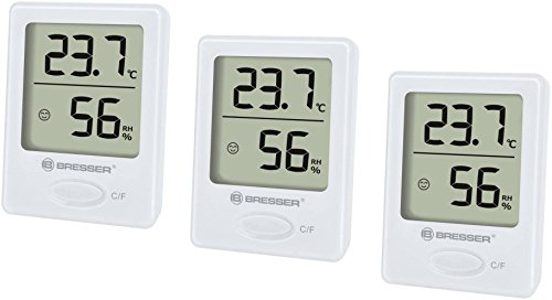 Bresser Optik Thermo-/Hygrometer Temeo Hygro Indikator 3er Set...