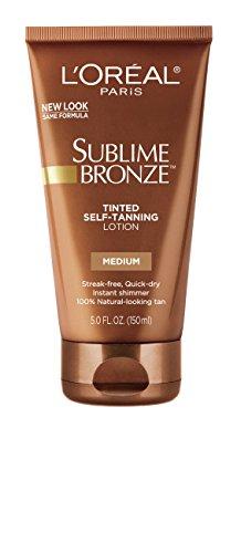 L'Oreal Paris Sublime Bronze Tinted Self-Tanning Lotion Light Medium 145 ml (Selbstbräuner) (Tan Sublime Natural Bronze Medium)