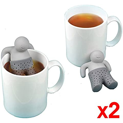 Pack of 2X Infuser del té Infusión de té filtro en forma de filtro Mr. Tea