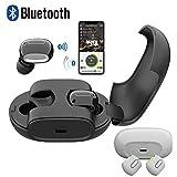 Bescita Bluetooth Sport in-Ear Kopfhörer, Mini Twins Wireless Bluetooth 4.2 Stereo Headset In-Ohr Kopfhörer Ohrhörer mit Mikrofon mit Mikrofon Ladebox (Schwarz)