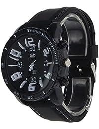 Sannysis® Hombres banda de silicona reloj del deporte - blanco