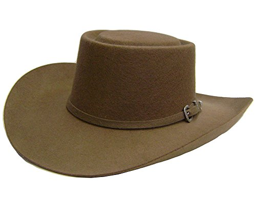 modestone-gambler-wool-felt-3-pc-buckle-hatband-thin-brim-chapeaux-cowboy-57-brown