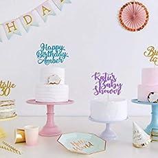 Custom Name And Age Birthday Cake Topper Cake Decoration Custom