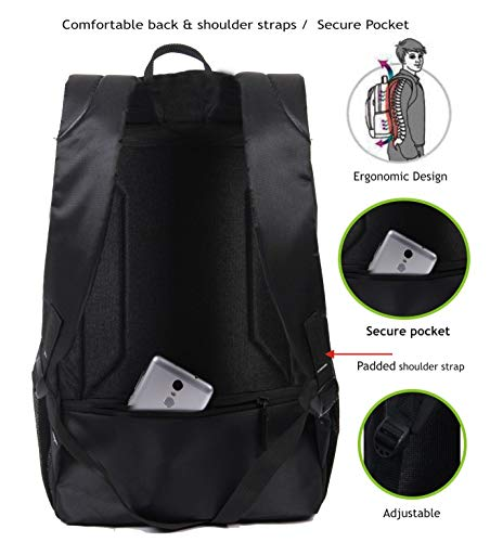POLESTAR Amaze 30 LTR Black Casual/Travel Backpack with Laptop Compartment Image 3