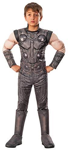 Deluxe Thor Kostüm - Thor Deluxe Infinity War Kostüm für Kinder - L (8-10 Jahre)