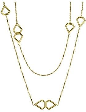 Liebeskind Berlin Damen-Kette mit Anhänger Mutlti Icon Collier Gold 85 cm