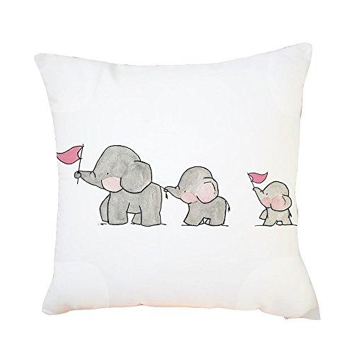 FeiliandaJJ Kissenbezug 45x45cm Pillowcase Kopfkissenbezug,Elefant Niedlich Drucken,Valentinstag Weihnachten Jahr Geschenk,für Wohnzimmer Sofa Bed Home (A)