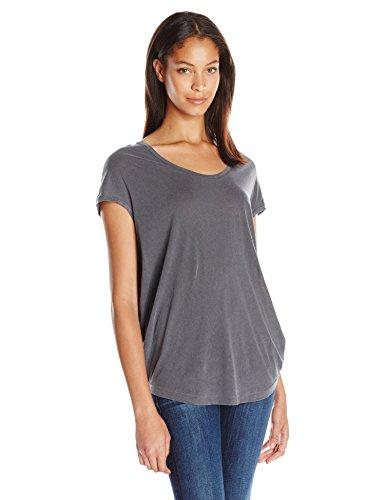 splendid-damen-t-shirt-einfarbig-gr-40-grau-grey-lead