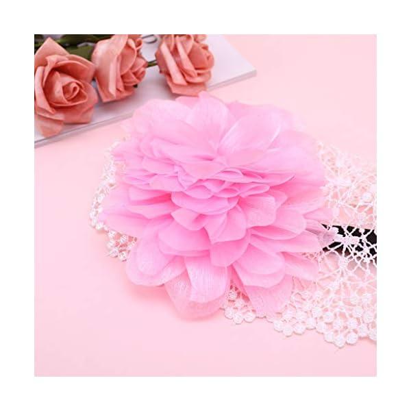 RROVE Diadema de Flores elástica para bebé recién Nacido, niña, niño, Diadema, Accesorios para el Cabello 5