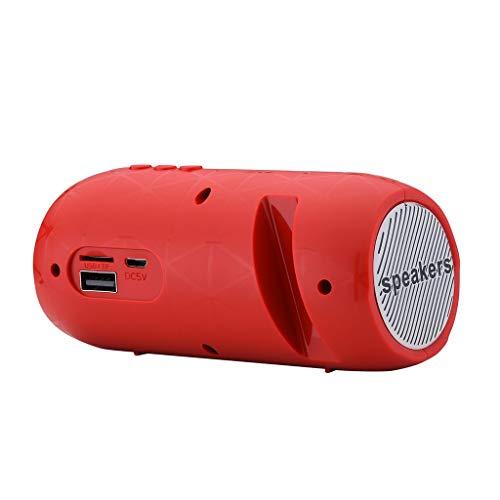 CAOQAO Enceinte Bluetooth Portable Speaker,Peut IntéGrer TéLéPhone Portable,en Plein Air sans Fil Haut-Parleur Audio StéRéO Basse ÉTanche Soundbox,Compatible avec IPhone, Windows, Ou Android,Rouge