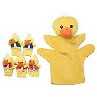 Homgaty Five Little Ducks Hand Finger Puppets Story Telling Nursery Fairy Tale Perfect Kids Gift