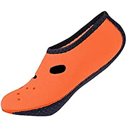 CUSHY Chaussures noprne Aqua Antidã‰Rapants Plonge avec Tuba Sock Plonge Bottes Palmes Natation Flippers Combinaison Short Beach Chaussettes Amont Chaussures: Jaune, 7