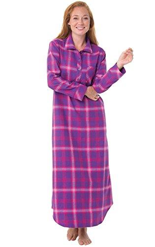Pajamagram bright plaid - camicia da notte in flanella - donna - rosa