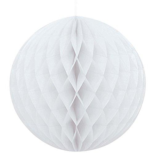 9 x Weiß Wabenbälle Papier Waben Honeycomb Balls Dekoration - 20cm (Ball Dekoration)
