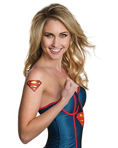 Horror-Shop DC Comics Supergirl Glitter Tattoo für Superhelden