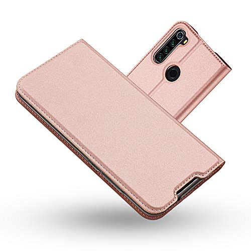 Radoo Xiaomi Redmi Note 8T Hülle, Premium PU Leder Handyhülle Brieftasche-Stil Magnetisch Klapphülle Etui Brieftasche Hülle Schutzhülle Tasche für Xiaomi Redmi Note 8T (Rose Gold)