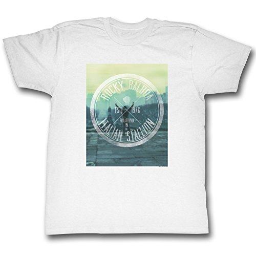 Rocky - Herren Hipster Logo T-Shirt White
