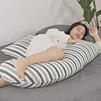 AFQHJ Safe, non-toxic, multi-functional cotton maternity pillow, U-shaped pregnancy pillow, removable washable pad, washable cotton cover (3 colors) (Color : C)