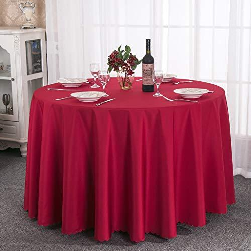 NNPE (TLMT) Hotel-Tischdecke, die runden Tisch rundes Tischtuch Tee-Tischdecke Starkes festes Colo Table Restaurant Table speist (Size : 2.8m) -