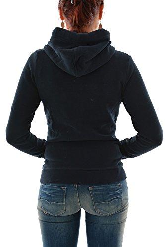 Superdry Orange Label Primary Ziphood, Sweat-Shirt Femme Bleu