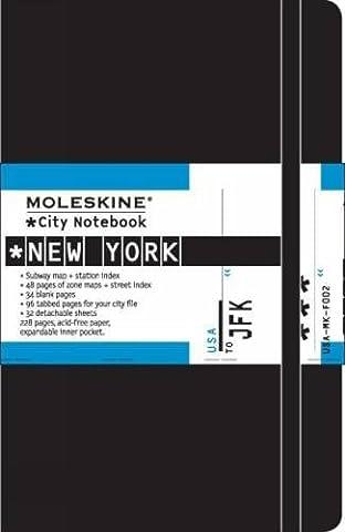 Moleskine City Notebook NEW YORK Couverture rigide noire 9 x 14 cm