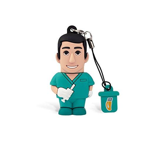 Professional usb infermiere uomo, simpatiche chiavette usb flash drive 2.0 memory stick archiviazione dati, portachiavi, pendrive 8 gb