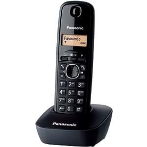 Panasonic KX-TG1611FRH Téléphone solo sans fil DECT sans répondeur Noir