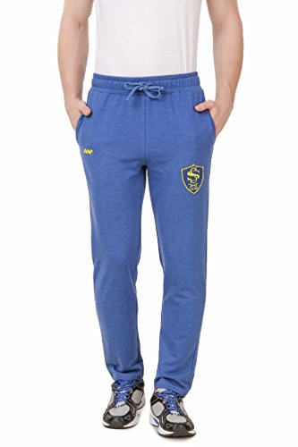 Spunk Sea Blue Ss Patch Track Pant Joggers