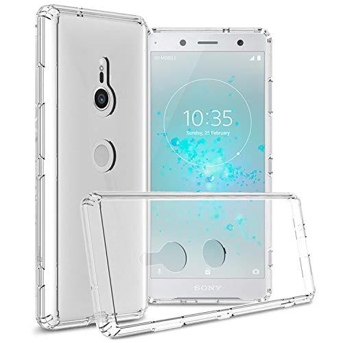 CoverON ClearGuard Series Schutzhülle für Sony Xperia XZ3 (durchsichtig, Schlankes Design, Transparente Rückseite, TPU-Bumper), farblos (Sony-handys Mobile Boost)